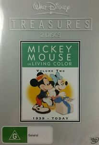 Mickey Mouse in Living Colour Treasures DVD  Volume 2 Walt Disney - REGION 4
