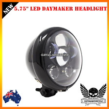 "Gloss black 5.75"" LED daymaker headlight Harley sportster cafe chopper Yamaha"