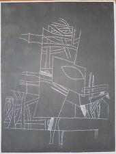 Nedelec gravure originale signée numérotée art abstrait abstraction