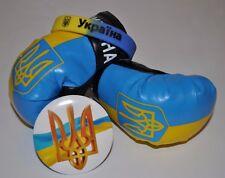 3 items Set: Boxing Gloves, Bracelet, Ukraine Pin. Ukrainian Flag True Colors.
