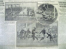 1914 newspaper w EARLY COLLEGE FOOTBALL photos  CORNELL vs BROWN @ POLO GROUNDS