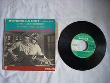 EP 45 Tours vinyl J. Hallyday BOF LES PARISIENNES, RETIENS LA NUIT (languette)