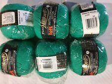6 x Milford Cotton 4 PLY 50g GREEN #02295 Dye Lot 11