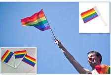 5 pcs Flags Rainbow LGBT Gay Pride Carnival Festival Hand Waving Small Flags