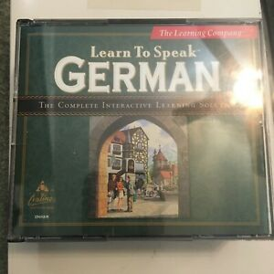 The Learning Company Learn to Speak German 8.1 798936828941
