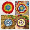 4Pcs Job Lot Vintage Doilies Crochet Lace Mats Round Coasters Handmade 11cm