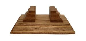 """new cedar wood stand for miniature book, will fit a 0.84"""" (22mm) wide book by KB"""