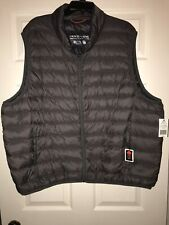 Hemisphere Down Filled Vest Lightweight Charcoal Gray Quilted Mens 4XB