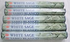 Hem White Sage Incense Bulk 5 x 20 Stick Boxes, 100 Sticks (Cleansing Blessings)