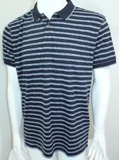 Hugo Boss Boss Striped Polo Shirt Color Blue  Sz Small NWT Pointout 101753