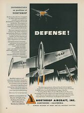 1952 Northrop Aircraft Employment Ad F-89 Scorpion Jet Fighter Hiring Positions