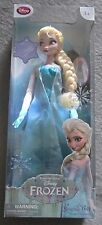 "NIB Disney Store Exclusive! Frozen ELSA Singing Light Up Doll 16"" H"