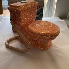 Bedazzled Pink Crystal Toilet Landline Phone
