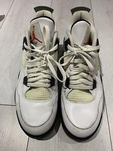 Nike Air Jordan 4 Retro White Cement Golf Shoe UK 11.5 No Box