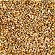 Miyuki Delica Seed Beads Size 10/0 Galvanized Yellow Gold Dyed 7.2g (J105/1)