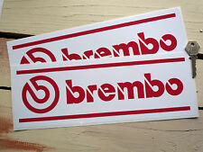 "BREMBO Rally & Race Motorsport Car STICKERS 12"" Pair F1 Classic Racing Sponsors"