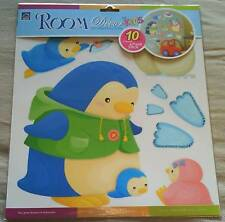 Unisex Kids Fun Bedroom Wall Stickers ~ Nursery/Playroom ~ Cool Penguin Family