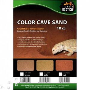 2,70€/kg Terra Exotica Color Cave Sand 10 kg Terrariumsand Reptilien Terraristik