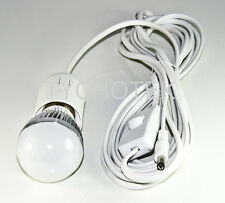 LED light 3W 12 Volt 12V E27 incl 5m lead & switch for 40W solar lighting system
