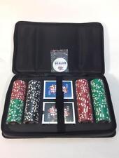 NEW!!! FULL TILT152 PIECE CHIP POKER TRAVEL SET w/CARRY HANDLE 2-DECKS OF CARDS