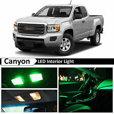 15x Green LED Light Interior Package Kit for 2015-2016 GMC Canyon