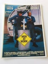 "MOVIE POSTCARD - Men At Work 6""X4"" Movie Film Collectors Postcard Lot 1 Retro"