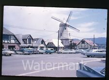 1964  35mm  Photo slide  Solvang CA #3  cars  Bob's Records Hi-FI