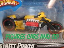 MOTO 1/18 DRAGSTER V12 FERENZO JAUNE 2007 HOT WHEELS