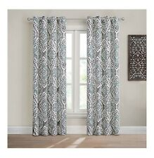 """Design Solutions Caleb 84"""" Grommet Light-Filtering Window Curtain Panel in Spa"""