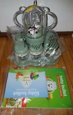 NEW Baby Bullet 6 Baby Food Jars Cups Date Dial Storage System, Tray, blender