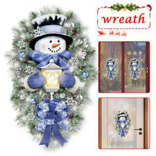 A Warm Winter Welcome Snowman Wreath Stickers Christmas Home Door Window Decals