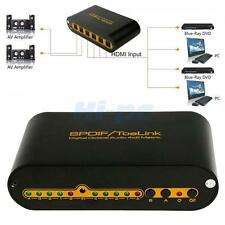 4 In 2 Out Digital Optical TosLink Audio True Matrix 4x2 Spdif Switcher/Splitter