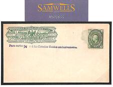 Ms1655 c1890 Mexico Wells Fargo Express Postal stationery Envelope/UNUSED