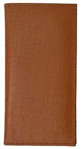 Genuine Leather PLAIN Checkbook Cover Tan NEW!!!