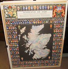 SCOTLAND OF OLD MAP VINTAGE PRINT DATED 1975 PUBLISHED BY JOHN BARTHOLOMEW & SON