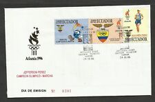 ECUADOR FDC COVER 1996 OLYMPIC ATHLETISM
