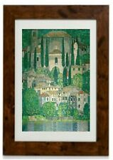 Church in Cassone Framed Print by Gustav Klimt