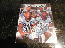 UNC Tar Heels Program Autographed by Dre Bly