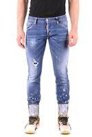 Jeans DSQUARED2 da uomo denim in cotone von piegoni