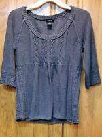 Calvin Klein Jeans Women Cotton Gray Pullover Tunic Sweater Size L
