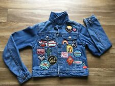 """CHILDS CANDY COUTURE DENIM JACKET, SIZE 28"""" CHEST, VERY NICE. DARK BLUE."""