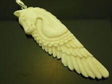 Pegasus Winged Horse Sterling Silver 925 Water Buffalo Bone Pendant Necklace
