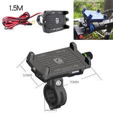 CNC Motorrad GPS Navigation Halterung Halter mit Telefon 2.5A USB Ladegerät 1x