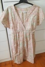PEACE ANGEL Beach Boho Maxi Cotton Dress size M Made in India