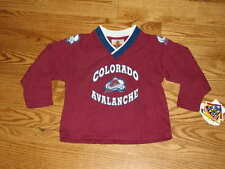 NEW Boys Girls Toddler Colorado Avalanche Jersey Size 4T L/S Shirt NHL 4 T