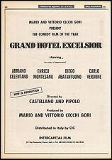 GRAND HOTEL EXCELSIOR__Original 1982 Trade AD promo / poster__ADRIANO CELENTANO
