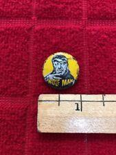 "Vintage 1960s ""Wolf Man� 1� Pinback Trinket/Charm Prize-Very Rare"
