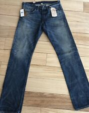 RRL Japanese Selvedge Denim Faded Blue Jeans Low Straight 32 X 34 USA Made