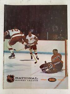 1967-68 NHL Hockey North Stars Vs Montreal Canadiens Official Program! (B120)