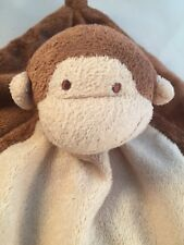"""Angel Dear Knotted Corner No Tag Security Blanket Lovey Brown Monkey 13"""" square"""